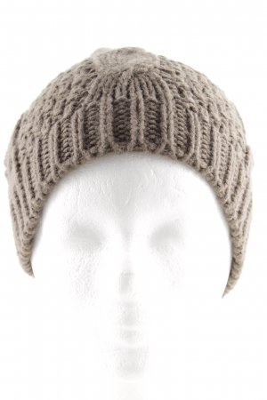 Codello Knitted Hat grey brown cable stitch casual look