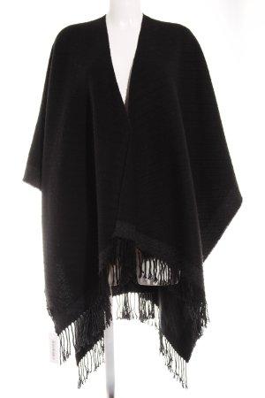 Codello Poncho en tricot noir-gris foncé style décontracté
