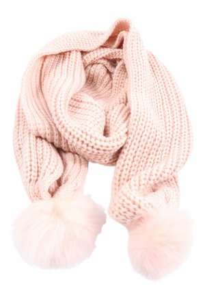 Codello Knitted Scarf pink cable stitch casual look