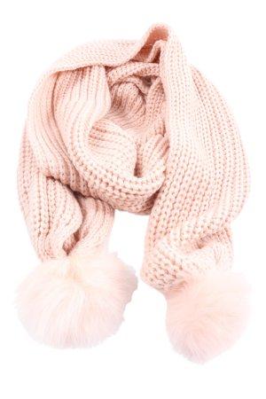 Codello Écharpe en tricot rose torsades style décontracté