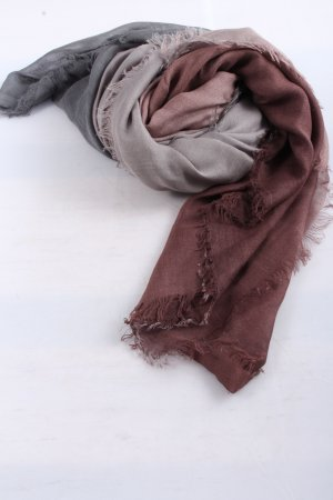 Codello Knitted Scarf brown-light grey color gradient casual look