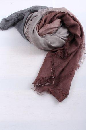 Codello Bufanda de punto marrón-gris claro degradado de color look casual