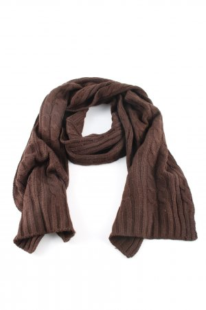 Codello Knitted Scarf brown cable stitch casual look
