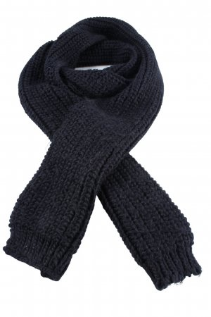 Codello Knitted Scarf blue cable stitch casual look