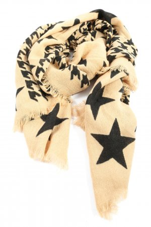 Codello Knitted Scarf natural white-black allover print casual look