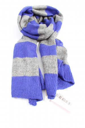 Codello Knitted Scarf light grey-blue striped pattern casual look