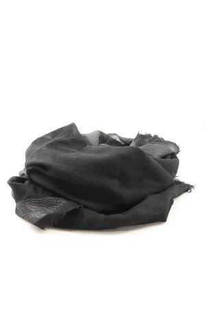Codello Bufanda de punto negro-color plata look casual
