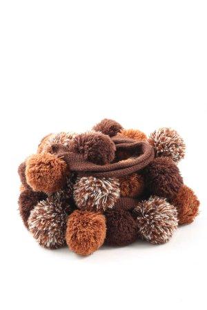 Codello Bufanda de punto marrón look casual