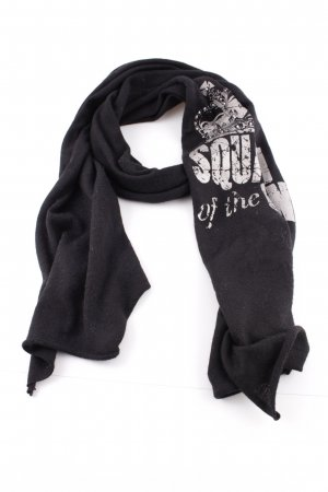 Codello Knitted Scarf black-white themed print casual look