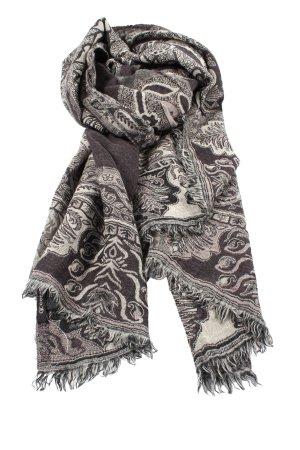 Codello Bufanda de lana marrón-blanco puro look casual