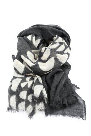 Codello Wełniany szalik jasnoszary-biały W stylu casual