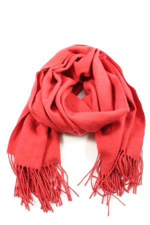 Codello Écharpe en laine rouge style décontracté