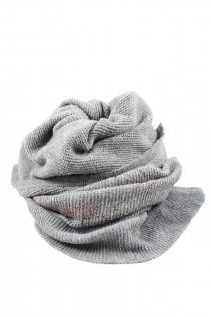 CODELLO x Disney Knitted Scarf light grey-brown themed print casual look