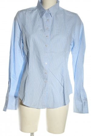 Coercion Long Sleeve Blouse white-blue striped pattern casual look