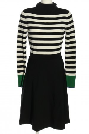 Coercion Longsleeve Dress black-white striped pattern casual look