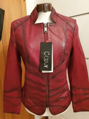Coeur Leather Jacket dark red leather