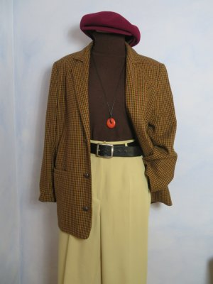 Vintage Blazer boyfriend multicolore tissu mixte