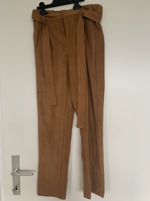 Sparkz Marlene Trousers cognac-coloured polyester