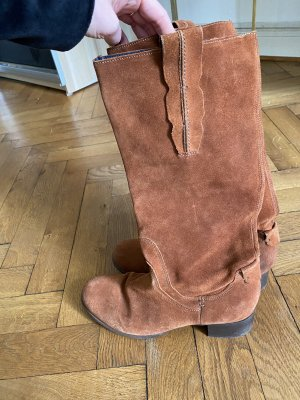 Peckott Western Boots cognac-coloured