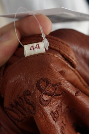 Cognac Leather Sound Lederjacke bronzefarben Casual-Look