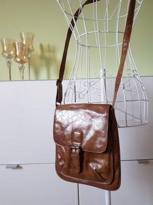 Cognacfarbende Kunstledertasche von Look