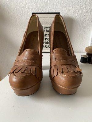 Cognacfarbene High Heels