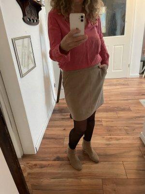 Vero Moda Spódnica z imitacji skóry cognac