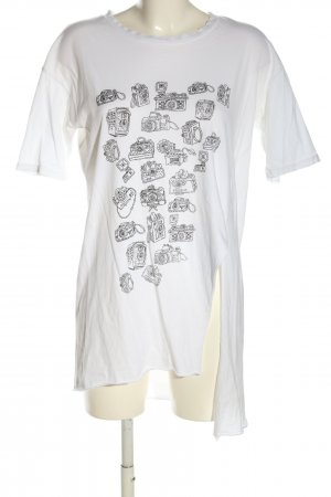 Coin 1804 T-Shirt white-black themed print casual look