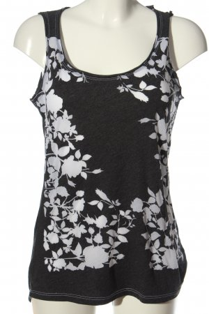 Coin 1804 Strappy Top light grey-natural white flower pattern casual look