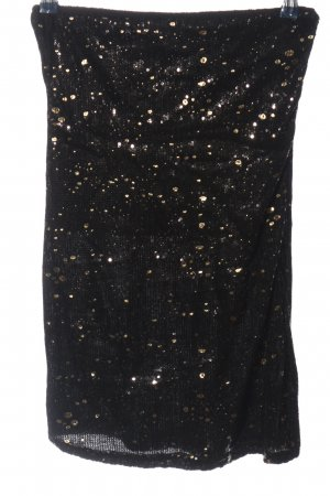 Cokssy Stretch Skirt black-gold-colored elegant