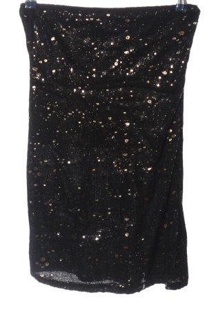 Cokssy Falda stretch negro-color oro elegante