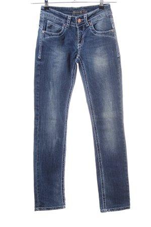 Colac Collection Jeans vita bassa blu stile casual