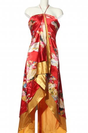 Colbee Bustier Dress flower pattern extravagant style