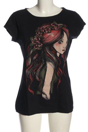 Colcci T-shirt noir imprimé avec thème style décontracté