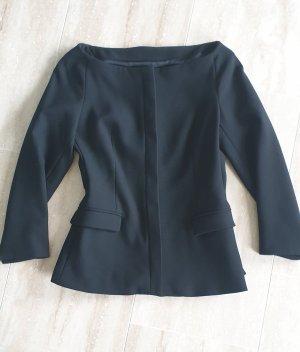Zara Blazer de esmoquin negro tejido mezclado