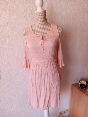Sukienka bez ramiączek łosowiowy-różany