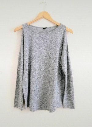 Gina Tricot Pull en maille fine gris clair