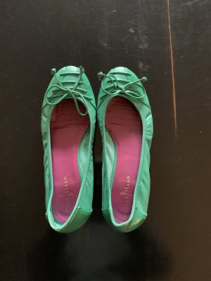Cole Haan Foldable Ballet Flats lime-green