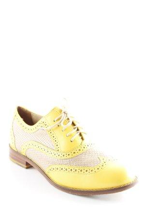 Cole Haan Scarpa Derby beige-giallo scuro stile stravagante