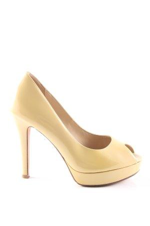 Cole Haan High Heels blassgelb Casual-Look