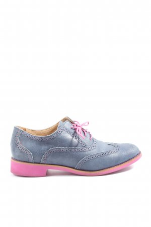 Cole Haan Lace Shoes blue-pink casual look