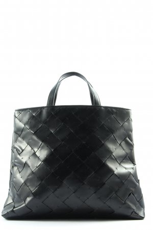 Cole Haan Shopper black quilting pattern casual look