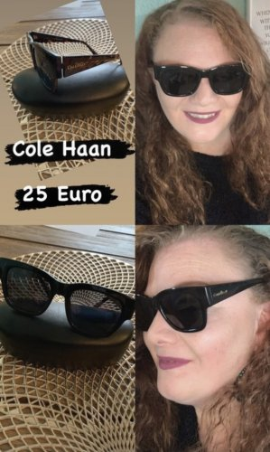 Cole Haan Angular Shaped Sunglasses black