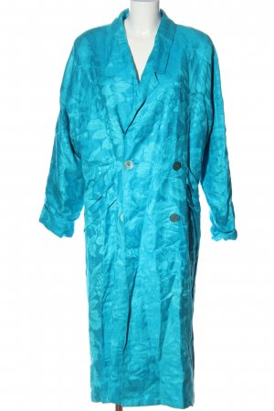 colette Floor-Lenght Coat blue allover print casual look
