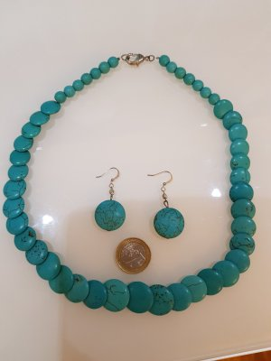 HANDMADE BY GERMANY Colliers ras du cou bleuet-turquoise