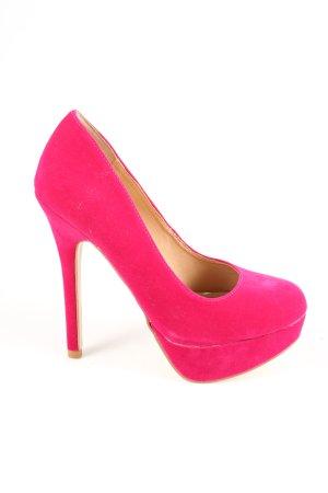Colin Stuart Platform Pumps pink extravagant style