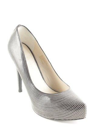 Colin Stuart Pointed Toe Pumps black-silver-colored elegant