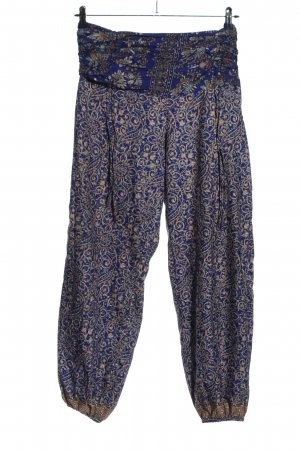 Coline Baggy Pants blue-natural white abstract pattern casual look