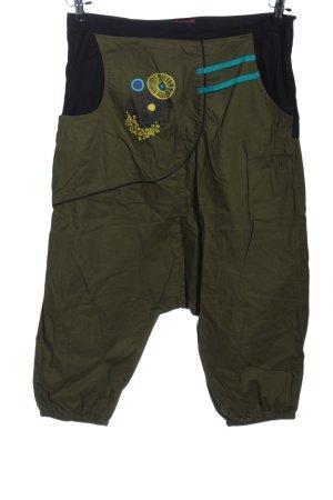 Coline High-Waist-Shorts khaki-schwarz Casual-Look