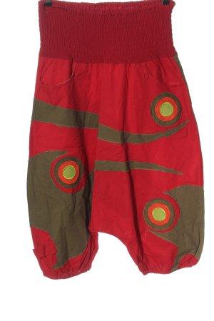 Coline Pantalon large rouge-kaki style décontracté